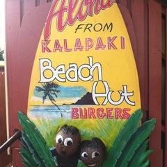 Photo taken at Kalapaki Beach Hut Burgers by Erica M. on 7/3/2012