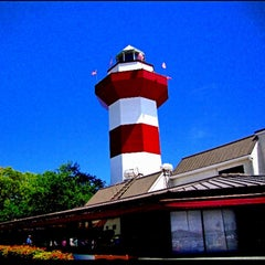 Photo taken at Harbour Town Lighthouse by Alyssa G. on 5/8/2013