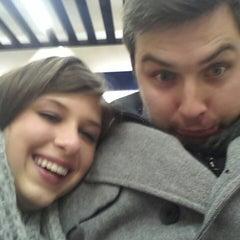 Photo taken at Metro Ursynów by Klaudia K. on 1/4/2014