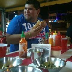 Photo taken at Diablos Super Hot Dogs by Andrés M. on 4/12/2014
