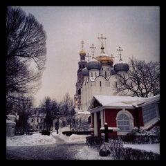 Photo taken at Новодевичий монастырь by Ru on 1/21/2013