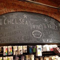 Photo taken at Chelsea Wine Vault by Shannon C. on 9/5/2013