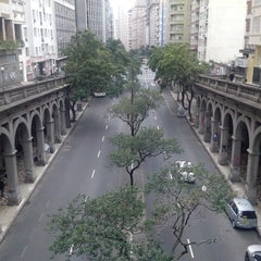 Photo taken at Viaduto Otávio Rocha (Viaduto da Borges) by Hayann C. on 6/6/2013