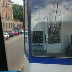 "Photo taken at 7. tramvajs | Ausekļa iela - Tirdzniecības centrs ""Dole"" by Iveta K. on 6/8/2015"