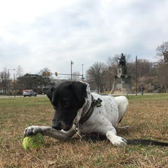Photo taken at Lincoln Statue Dog Park by Polly H. on 3/6/2016
