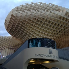 Photo taken at Metropol Parasol by Bea G. on 5/19/2013