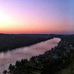 Photo taken at Covert Park at Mt. Bonnell by Brooke M. on 9/24/2012