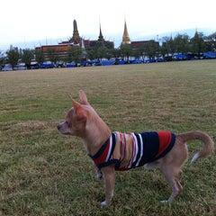 Photo taken at สนามหลวง (Sanam Luang) by Chayapa on 5/7/2013