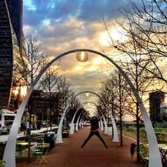 Photo taken at Klyde Warren Park by Katherine S. on 1/4/2013