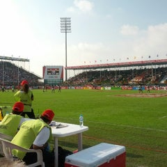 Photo taken at 7he Sevens Rugby Ground by Joeri W. on 12/1/2012