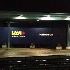 Photo taken at VIA Rail Kingston by Hafizan @. on 9/30/2015
