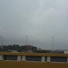 Photo taken at Mandovi Bridge by Yash M. on 7/6/2013