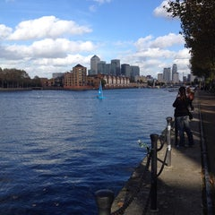 Photo taken at Surrey Docks Watersports Centre by Svetlana T. on 10/19/2014