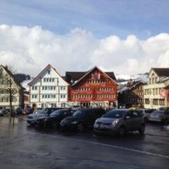 Photo taken at Landsgemeindeplatz by Svetlana K. on 3/4/2015
