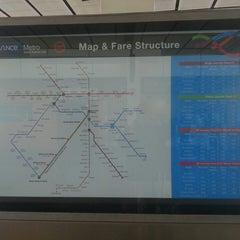 Photo taken at Delhi Aerocity Metro Station by Dennis R. on 8/24/2013