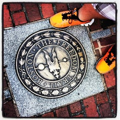 Photo taken at The Freedom Trail by Eric K. on 9/22/2013
