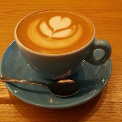Photo taken at Prufrock Coffee by Melissa C. on 11/18/2012
