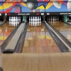 Photo taken at Buffaloe Lanes South Bowling Center by Connie H. on 4/5/2014
