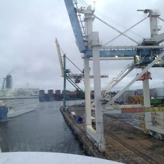 Photo taken at Frihamnsterminalen | Tallink - S:t Peter Line by Andrey Y. on 1/5/2013