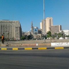 Photo taken at Tahrir Square   ميدان التحرير by Fizza R. on 4/19/2013