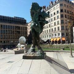 Photo taken at Place Louis Pradel by Marc C. on 4/17/2013
