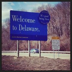 Photo taken at Delaware / Pennsylvania State Line by Jenn B. on 3/14/2013