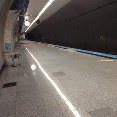 Photo taken at Hacıosman Metro İstasyonu by Aleyna A. on 11/1/2014