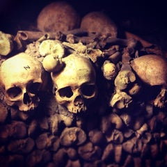Photo taken at Catacombes de Paris by Erico N. on 9/15/2013