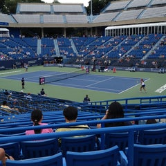 Photo taken at Connecticut Tennis Center by Christopher M. on 8/18/2013