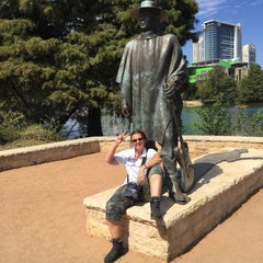 Photo taken at Stevie Ray Vaughan Statue by Rotterdammer010 on 10/4/2015