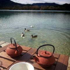 Photo taken at Banys Vells Banyoles by Alberto D. on 3/2/2014