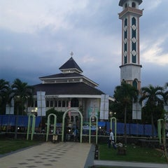 Photo taken at Alun-Alun Karawang by Atu A. on 7/15/2014