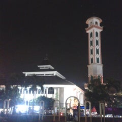 Photo taken at Alun-Alun Karawang by Atu A. on 6/18/2014