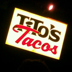 Photo taken at Tito's Tacos by Liset M. on 1/28/2012