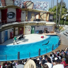 Photo taken at Sea Lion and Otter Stadium by Boy R. on 6/1/2012