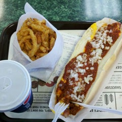 Photo taken at Ted's Hot Dogs by Brad B. on 5/10/2012