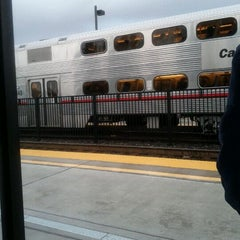 Photo taken at California Ave Caltrain Station by Shan on 2/14/2012