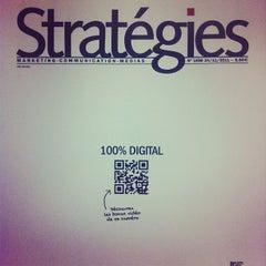 Photo taken at Stratégies by Rassem B. on 11/23/2011