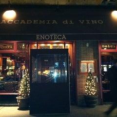 Photo taken at Accademia di Vino Broadway by sanae on 2/20/2011