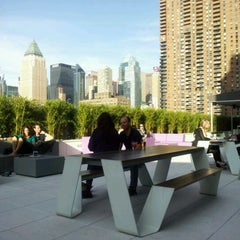 Photo taken at The Terrace at Yotel by Anna C. on 5/17/2012
