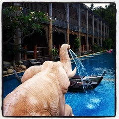Photo taken at Santhiya Resort And Spa Koh Phangan by Ultramankung. T. on 12/4/2011