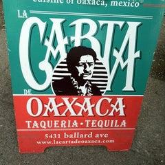 Photo taken at La Carta De Oaxaca by Mettayya F. on 6/29/2011