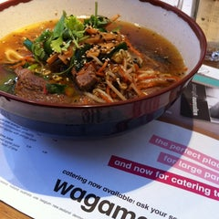 Photo taken at Wagamama by Glenn F. on 1/2/2012