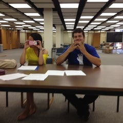 Photo taken at Blume Library by Vince V. on 5/9/2012