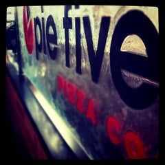 Photo taken at Pie Five Pizza Co. by Samantha P. on 2/19/2012