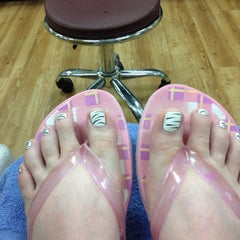 Photo taken at da vi nails by Tina W. on 6/1/2012