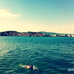 Photo taken at Kadmo Beach by Nikola Ivana on 8/13/2012