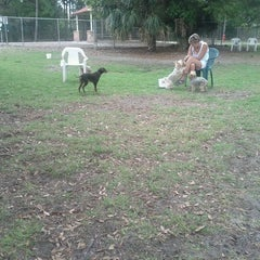 Photo taken at Estero Community Park Dog Run by Chris G. on 3/11/2012