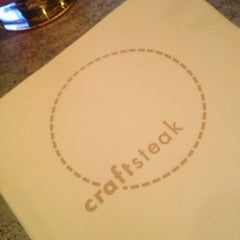 Photo taken at Tom Colicchio's Craftsteak by Jennifer F. on 4/22/2013