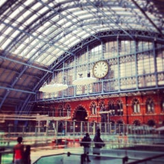 Photo taken at London St Pancras International Railway Station (STP) by James E. on 7/6/2013
